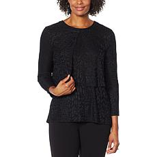 """""""As Is"""" Antthony Textured Knit 3/4-Sleeve Shrug"""