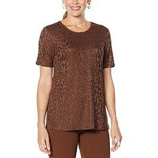 """As Is"" Antthony Textured Knit Short-Sleeve Top"