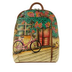 """""""As Is"""" Anuschka Hand-Painted Leather Backpack"""