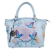 """""""As Is"""" Anuschka Hand Painted Leather Double-Handle Tote"""