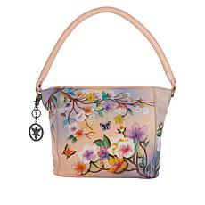 """""""As Is"""" Anuschka Hand-Painted Leather Shopper Tote"""