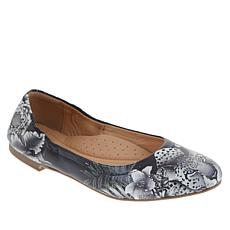 """""""As Is"""" Anuschka Natalie Printed Leather Ballet Flat"""