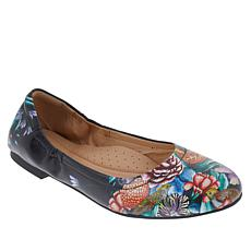 """As Is"" Anuschka Natalie Printed Leather Ballet Flat"