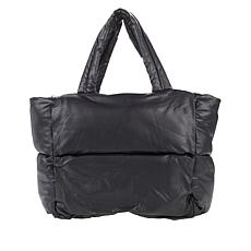 """As Is"" Avec Les Filles Faux Leather Puffer Tote"