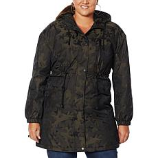 """""""As Is"""" Avec Les Filles Faux Sherpa Lined Star Camo Anorak"""