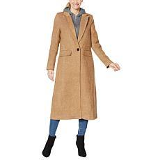 """As Is"" Avec Les Filles Wool-Blend Maxi Coat with Detachable Hood"