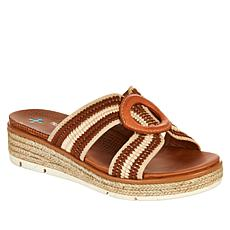 """As Is"" Baretraps® Bliss 2-Tone Jute-Wrapped Wedge Sandal"