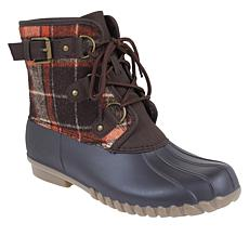 """As Is"" Baretraps® Fahn Waterproof Plaid Laced Duck Boot"