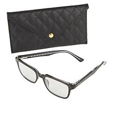"""""""As Is"""" Bethenny Frankel The Deep Square Blue Light Reading Glasses..."""