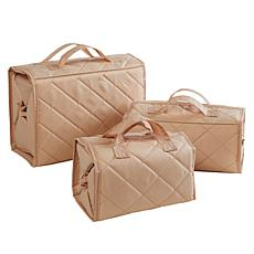 """""""As Is"""" Better Beauty Case Quilted 3-piece Set"""