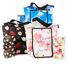 """As Is"" BetterTotes Set of 3 Insulated Foldable Bags"