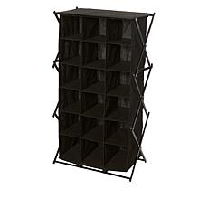 """""""As Is"""" Black + Decker® 18 Compartment Collapsing Shoe Cubby"""