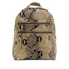 """As Is"" Born® Addams Leather Snake-Print Backpack"