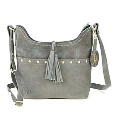 """""""As Is"""" Born Wantworth Studded Leather Crossbody"""