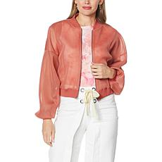 """""""As Is"""" Brittany Humble Mesh Knit Bomber Jacket"""