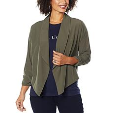 """""""As Is"""" Brittany Humble Soft Draped Open Front Jacket"""