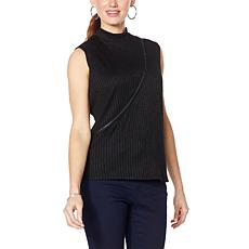"""As Is"" Brittany  Humble Zippered Mock-Neck Top"