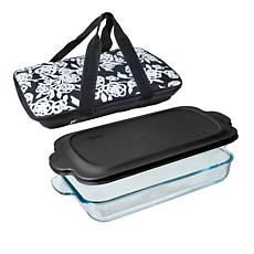 """As Is"" Built New York Go-Go Baking Dish with Lid and Insulated Car..."