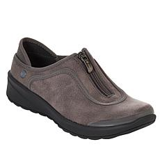 """As Is"" Bzees Glaze Washable Zip-Front Shoe"