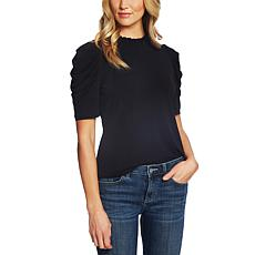 """""""As Is"""" CeCe Puff Sleeve Crepe Top"""