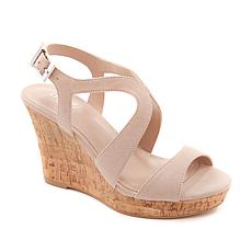 """As Is"" Charles by Charles David Louis Platform Wedge Sandal"