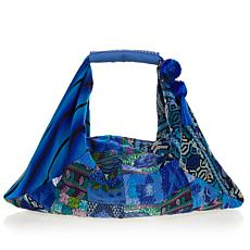 """As Is"" Clever Carriage Company Antigua Patchwork Hobo"