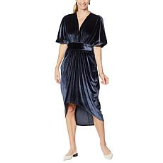 """""""As Is"""" Coldesina Butterfly Kaftan Dress- Charcoal"""
