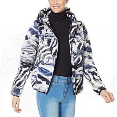 """""""As Is"""" Coldesina Printed Puffer Jacket"""