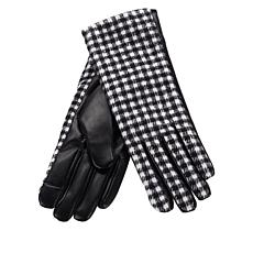"""""""As Is"""" Collection 18 Faux Leather Buffalo Plaid Gloves"""