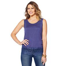 """""""As Is"""" Colleen Lopez Lace-Trim Tank"""