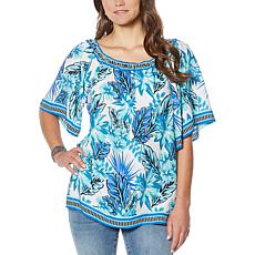 """""""As Is"""" Colleen Lopez Mixed-Print Blouse"""