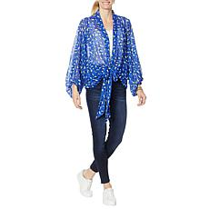 """""""As Is"""" Colleen Lopez Printed Tie-Front Topper"""