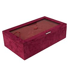 """As Is"" Colleen's Prestige™ 3-piece 2-Level Brushed Fabric Jewelry Box"