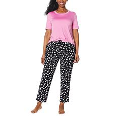 """As Is"" Comfort Code Soft & Light Knit Pajama Set"