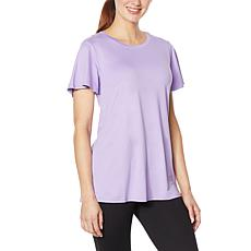 """""""As Is"""" Comfort Code Stretch Jersey Flutter-Sleeve Tee"""