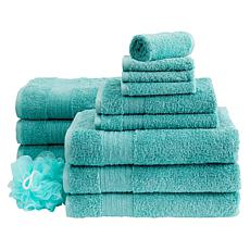 """As Is"" Concierge Collection 13-piece 100% Turkish Cotton Towel Set"