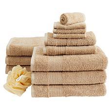 """As Is"" Concierge Collection 13-piece 100% Turkish Cotton Towel Set"