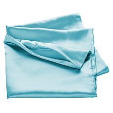 """As Is"" Concierge Collection Platinum 19mm 100% Silk Pillowcase"