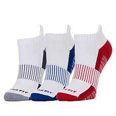 """""""As Is"""" Copper Fit™ 3-pack Unisex Compression Bamboo Socks"""