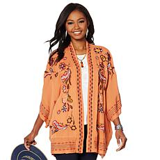 """""""As Is"""" Curations Embroidered Gauze Kimono"""