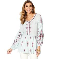 """As Is"" Curations Embroidered Tunic"