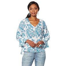 """""""As Is"""" Curations Printed Blouse"""