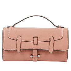 """As Is"" Danielle Nicole Leather Double-Flap Crossbody"