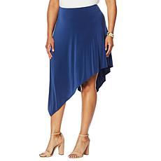 """""""As Is"""" DAVID David Meister Fluid Jersey Asymmetric Skirt"""