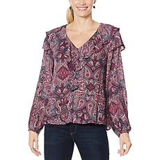 """""""As Is"""" Democracy Printed Woven Blouse"""