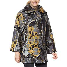 """As Is"" DG2 by Diane Gilman Chain-Printed Puffer Jacket"