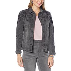 """""""As Is"""" DG2 by Diane Gilman Classic Stretch Embroidered Denim Jacket"""