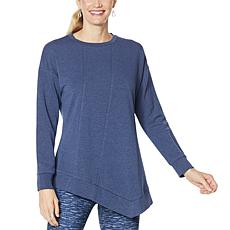 """As Is"" DG2 by Diane Gilman ""DG Downtime"" Asymmetric Drape Sweatshirt"