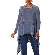 """""""As Is"""" DG2 by Diane Gilman Drama Waffle Knit Double Layer Top"""