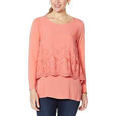 """""""As Is"""" DG2 by Diane Gilman Lace-Trim Easy Top"""